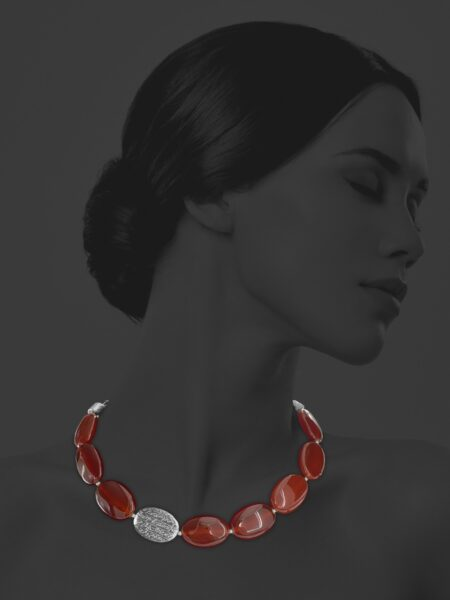 Hope carnelian necklace