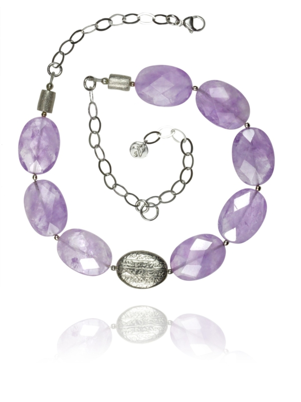 Hope lavender amethyst necklace