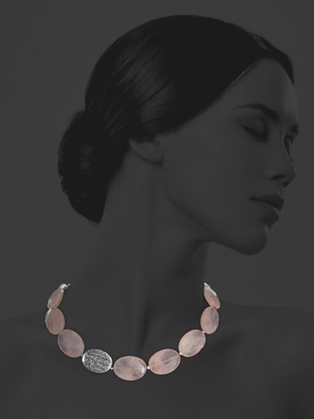 Hope rose quartz necklace