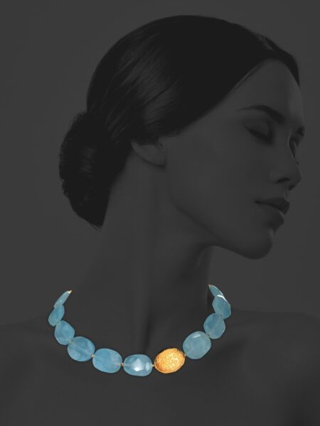 Hope aquamarine vermeil necklace