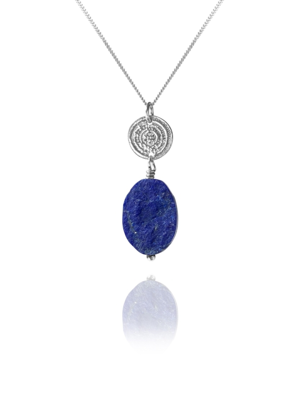 Hope unpolished lapis oval pendant