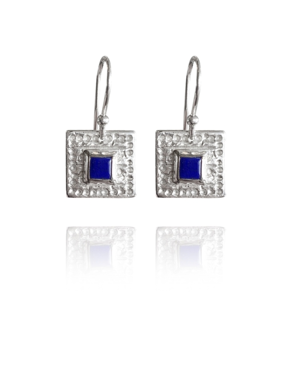 Journey Square lapis earrings