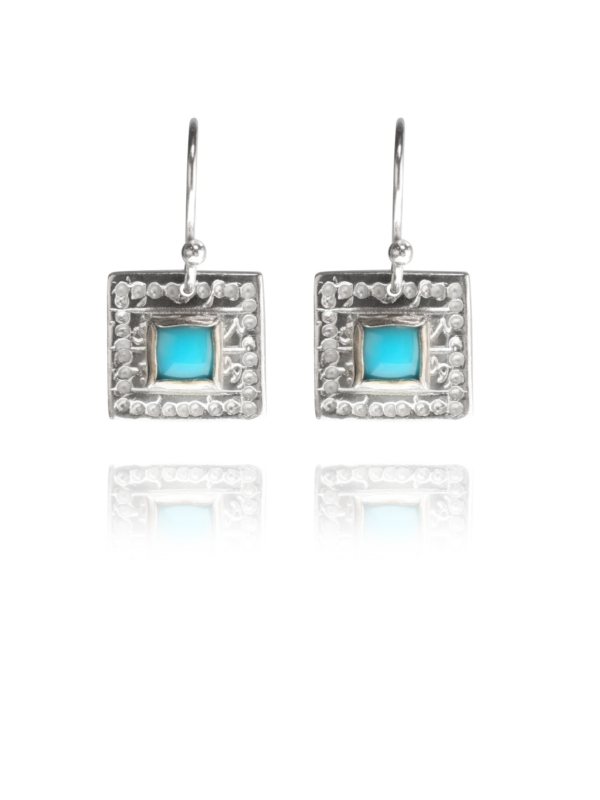 Journey Square turquoise earrings
