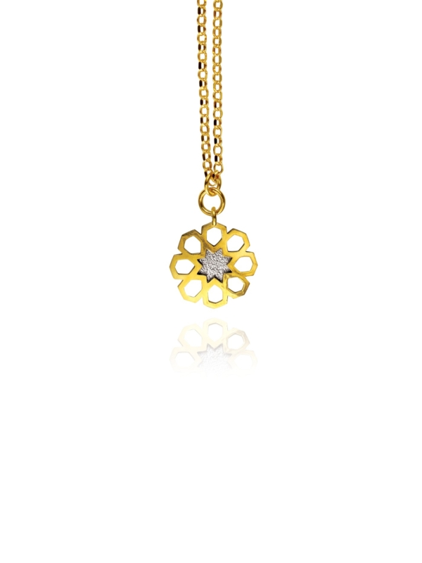 Mosaic Star small necklace silver vermeil