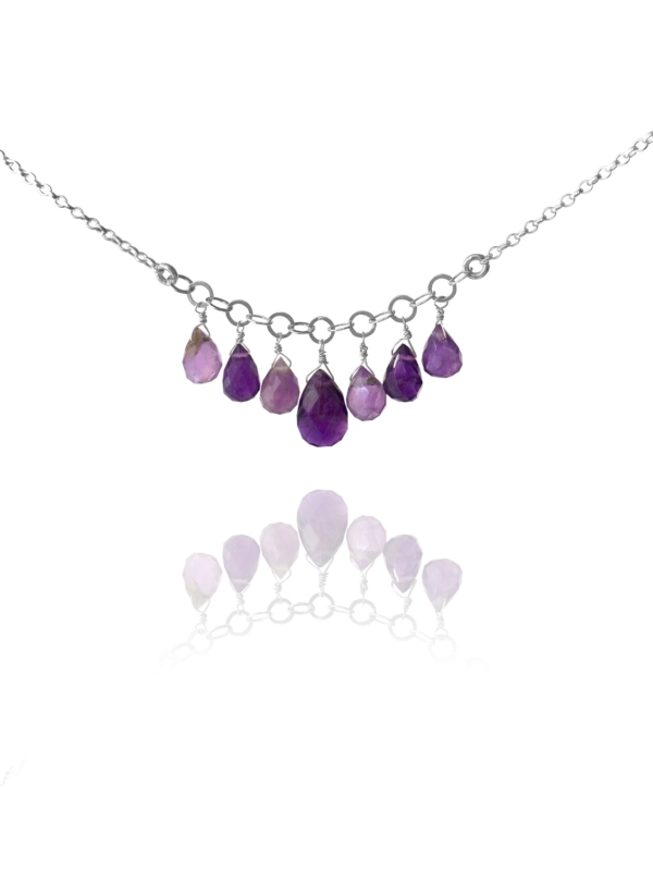 Stars amethyst necklace