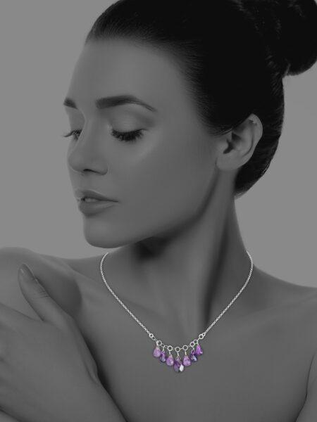 Stars amethyst necklace