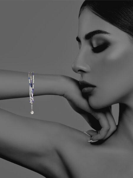 Stars Iolite bracelet