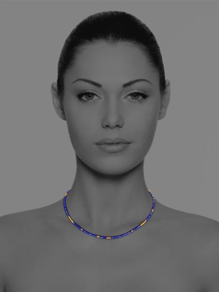 Stars lapis necklace