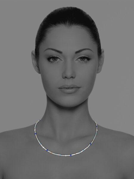Stars pyrite necklace