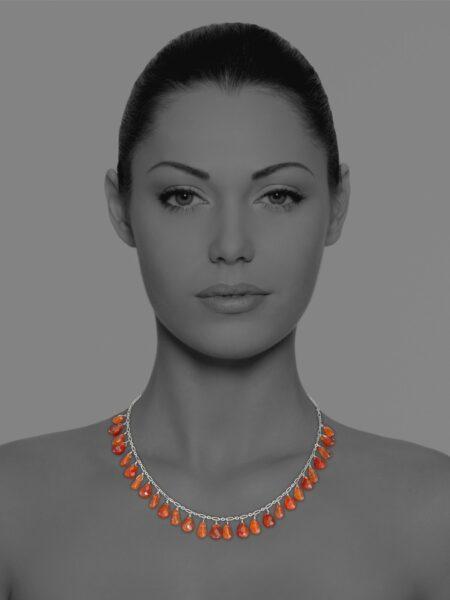 Stars carnelian necklace