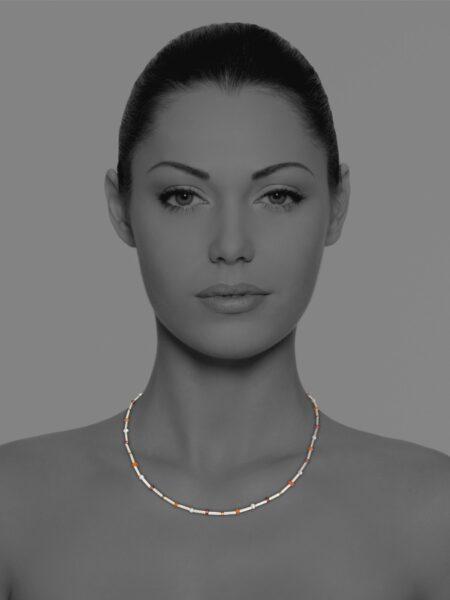 Stars garnet necklace