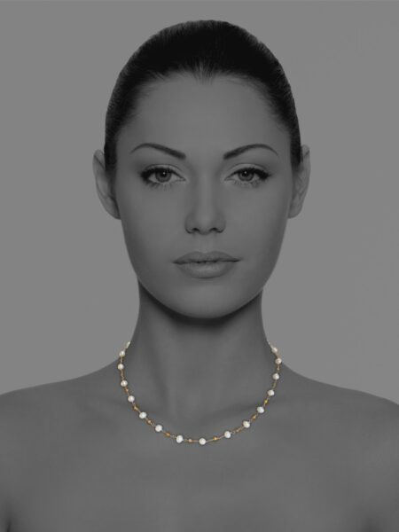 Stars pearl necklace