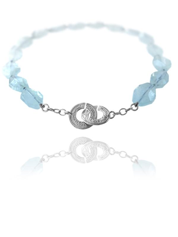 Unique Crescent aquamarine necklace