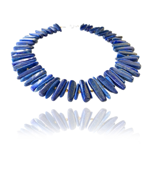 Unique Fruit lapis necklace
