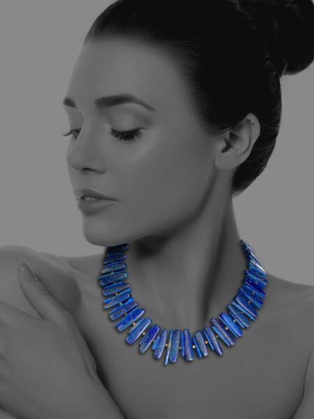 Unique Fruit lapis necklace