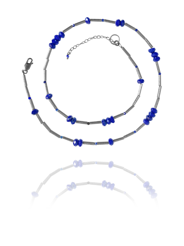 Stars Faceted Lapis necklace
