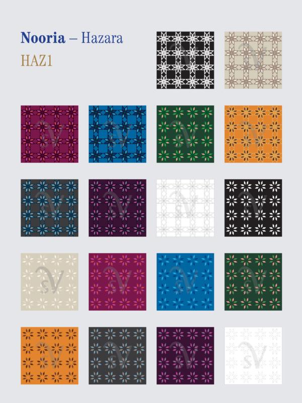 Nooria – Hazara patterns