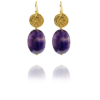 Hope silver vermeil amethyst earrings GA