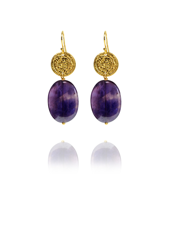 Hope amethyst vermeil earrings
