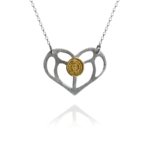 Bloom Love Heart silver vermeil necklace