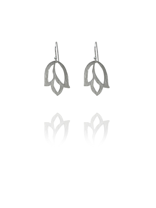 Bloom Tulip silver earrings