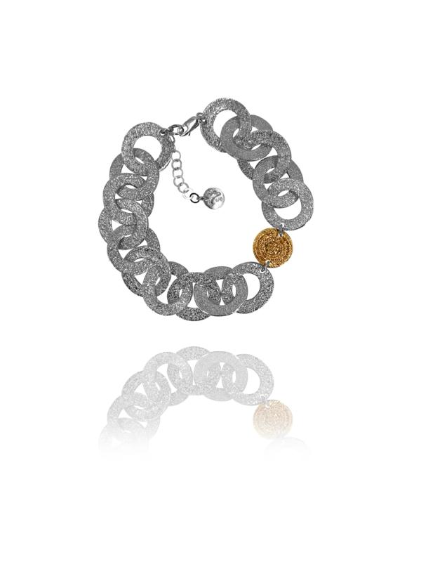 Coins Chain vermeil silver bracelet
