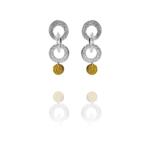 Coin chain earrings silver vermeil