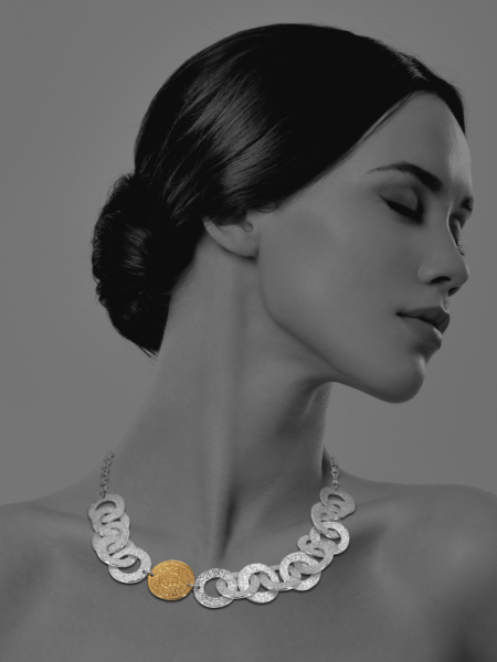 Coins Chain vermeil silver necklace