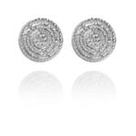 Coins Stud earrings silver vermeil S