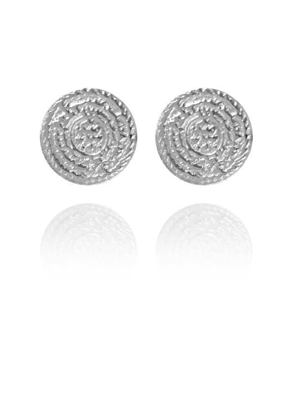 Coins Stud silver earrings